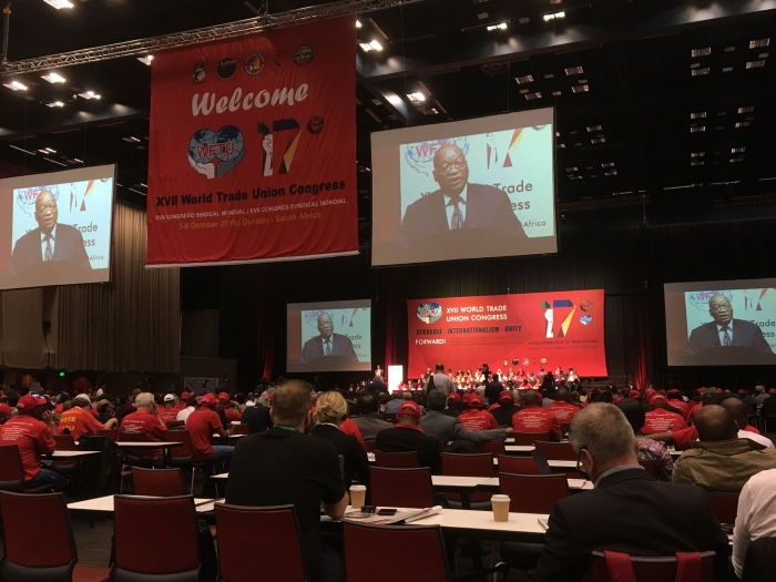 Jacob Zuma åpner WFTUs 17. kongress